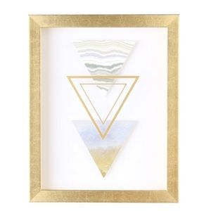 Contemporary Shadowbox Wall Art-Triangles-NEW
